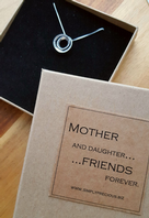 Mother Daughter Friends Forever Circle Necklace